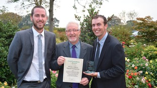 Middleton Hall's gardeners James Stark, Alan Langburn and head gardener Dean Lazenby