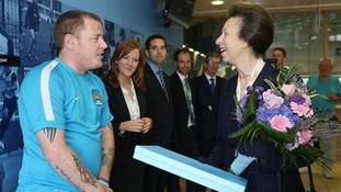 Princess Royal meets Mike Swindells