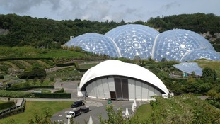 Eden Project biomes and open air stage