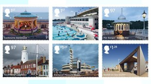 Seaside architecture stamps