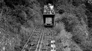 A photo of the Lynton to Lynmouth cliff railway dating from 1931