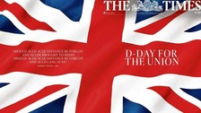 How the newspapers are covering referendum day