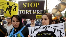 Amnesty protest against torture