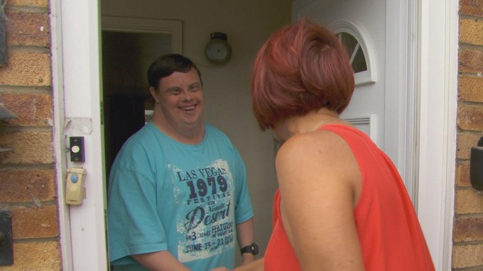 Man with downs syndrome meets woman at front door  sc 1 th 168 & Tonight: Against the Odds - ITV News
