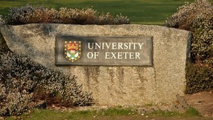 Exeter University sign