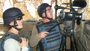 Kate Prout and Chris Warner in Afghanistan