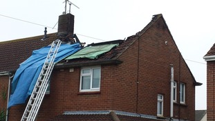 House struck by lightning in Wiltshire