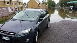 Car rescued from flood waters in Melksham