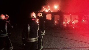 Fire crews attended the blaze