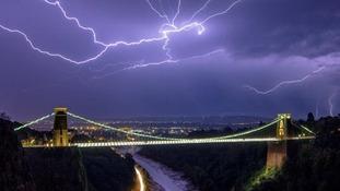 View over Bristol Suspension Bridge