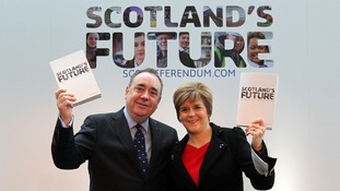 Alex Salmond with Nicola Sturgeon.