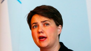 Ruth Davidson pictured speaking earlier this year