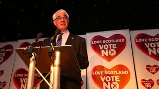 Alistair Darling, speaking earlier today