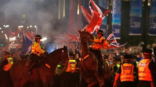 Six arrested after clashes in Glasgow's George Square