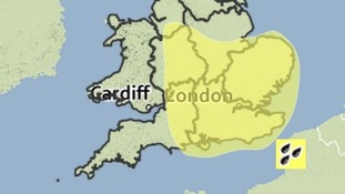 The Met Office has issued a yellow warning.