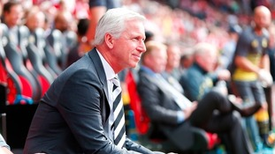 Under pressure: Alan Pardew could be replaced by Hull Manager Steve Bruce if he is sacked by Newcastle.