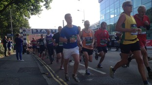 Fifteen thousand runners are pounding the streets of Bristol