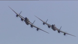 Rare sight of Lancaster bombers