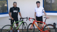 Medical Specialist Group surgeons Ranjan Vhadra and Michael Van den Bossche will be cycling up a French mountain to raise funds for Bowel Cancer Guernsey