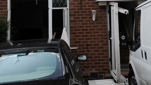The house damaged by the explosion in Kingstanding