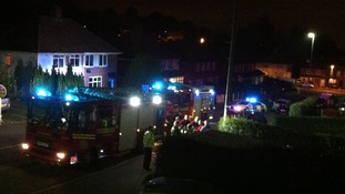 Fire crews attended the scene in Copthorne Road