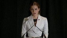 Emma Watson speaking at the UN