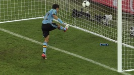 Spain winger Jesus Navas scores against Croatia.