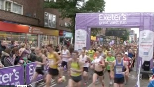 The start of the 2013 Great West Run in Exeter