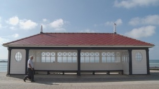 The newly restored shelter