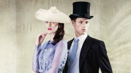 Models illustrate the new strict dress code in the Royal Ascot style guide