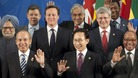 David Cameron poses for the G20 family photo in Mexico