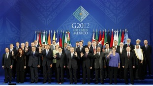 Leaders of the G20 nations gather for a group photo