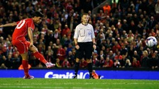 Liverpool's Suso scores the final penalty of the penalty shootout against Middlesbrough in their League Cup third round clash.
