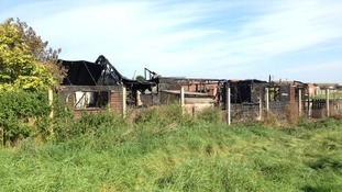 Burned buildings