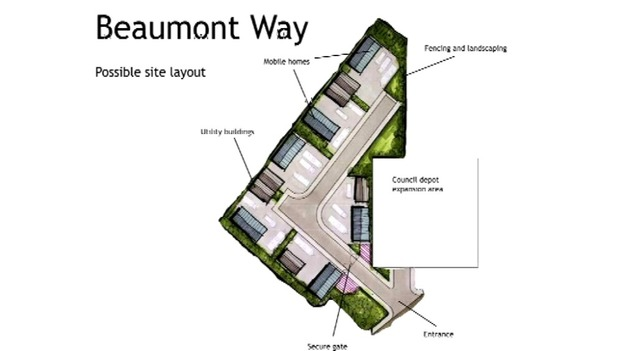 The proposed site in Beaumont Way