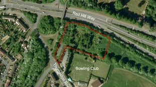 The proposed site in Red Hill Way