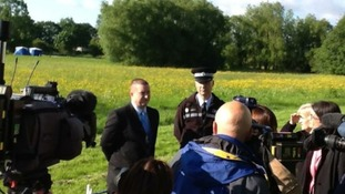 West Midlands Police at briefing at scene of search for Nicola Payne