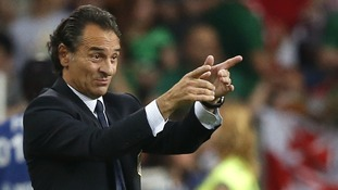 Italy coach Cesare Prandelli points the way towards Euro 2012 success in Poznan.