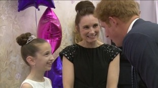 Rachel Hooley with Prince Harry at the WellChild Awards