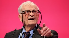 Second World War veteran Harry Smith, 91, speaks during the Labour Party's annual conference at Manchester Central Convention Complex.