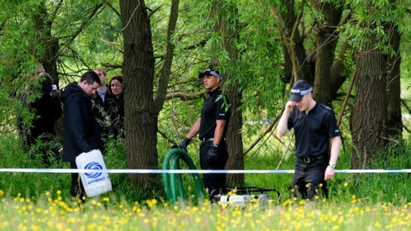 West Midlands Police officers at the search site in Coventry
