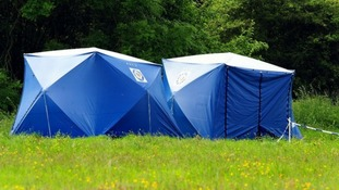 Police tents have been erected at the search site in Coventry