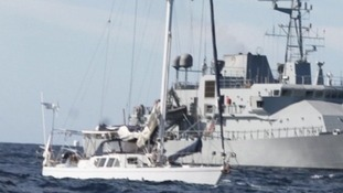 The 60-foot yacht, Makayabella, was stormed by the Irish Navy in the early hours of Tuesday