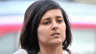 Mevish Ahmed, sister of Shafilea Ahmed, arrives at Chester Crown Court.
