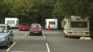 Travellers at Park and Ride in Plympton