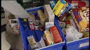 Food stocks at Taunton foodbank