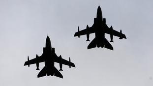 Two RAF Tornado GR4 jets.