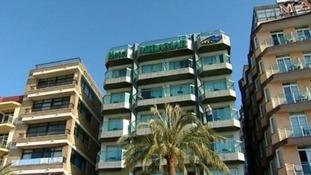 Hotel Miramar where the bodies of the children were found