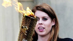 Princess Beatrice at Harewood House for Olympic torch