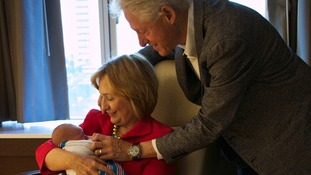 Bill, Hillary and Charlotte Clinton